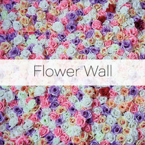 Photo Booth Backdrops - Flower Wall