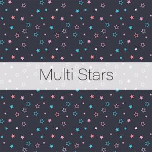 Photo Booth Backdrops - Multi Stars